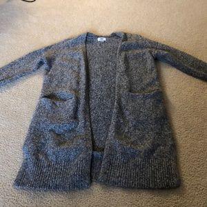 Long sleeve, gray cardigan